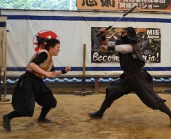 伊賀市忍者博物館の忍者ショー